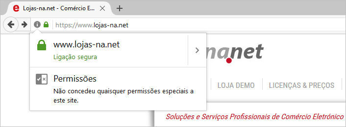 Loja epages segura com Certificado SSL / https