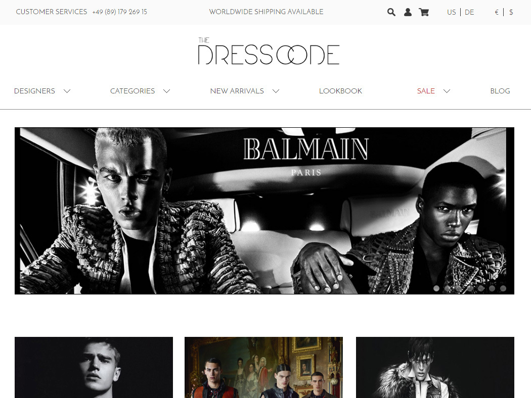 The Dresscode -  Luxury-fashion retailer