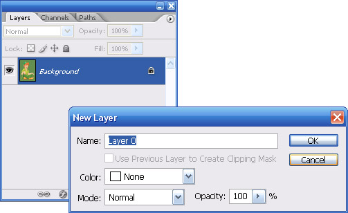 Converter background em layer